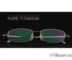 Nové elegantní titanové brýlové obruby + pouzdro