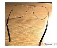 Luxusní brýlové obruby typu pilot+pouzdro na brýle