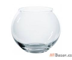 Váza skleněná kulatá / dekorace