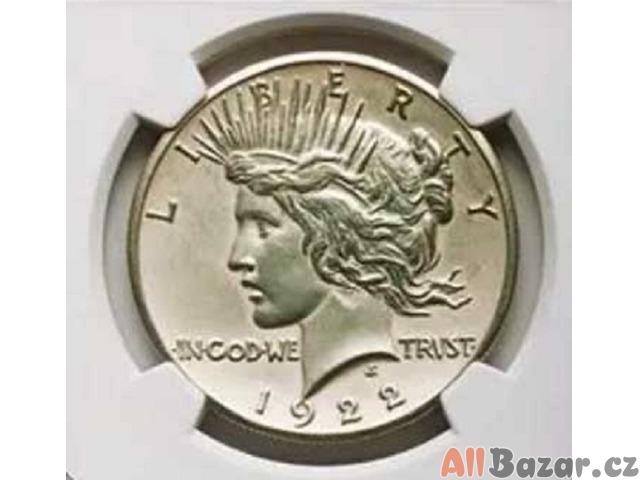 Stříbrný US jedno dolar