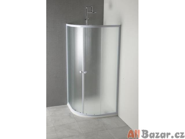 Stěna sprchového koutu čtvrtkruhová