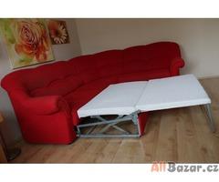 Rozkládací sedací souprava+úložný prostor, taburet
