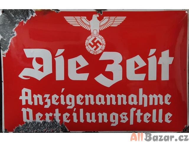 Stará Německá smaltovaná cedule