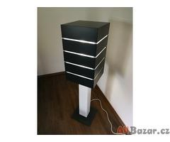 Sloupová Design Lampa + Stůl + stropní Světla - vše NOVÉ