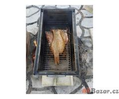 Nerezová udírna horkým kouřem(коптильня горячего копчения)