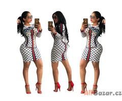 Tepláková mini šaty Gucci style