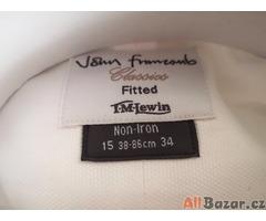 T. M. Levin luxusní košile, bílá, pánská, nová