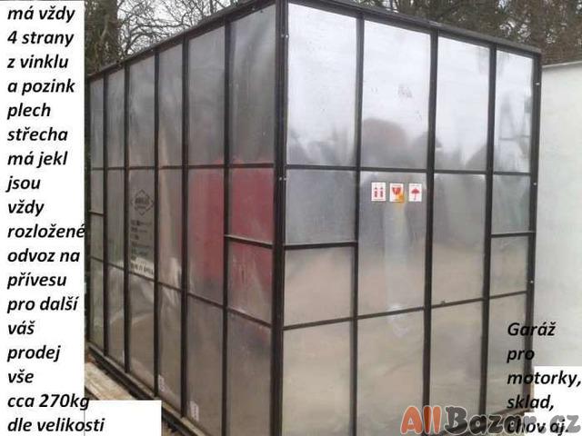 Stavební buňka,sklad,garáž od 4980kč pozink