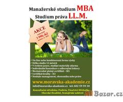 Nabízíme studium v programech typu MBA a LL.M.