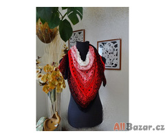 Háčkovaný šátek, hand made