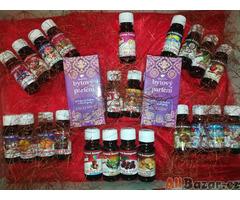 100% éterické oleje ( silice) a parfémové kompozice v široké paletě vůní.