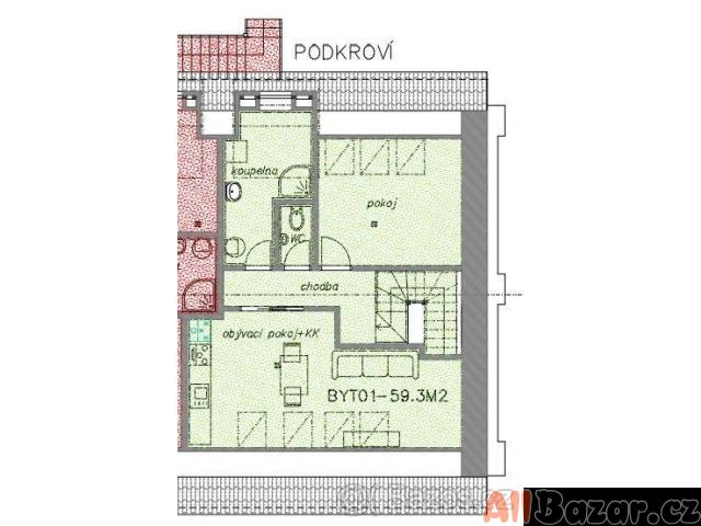 Pronájm komerční prostory a byt 2+1 v Korycanech.
