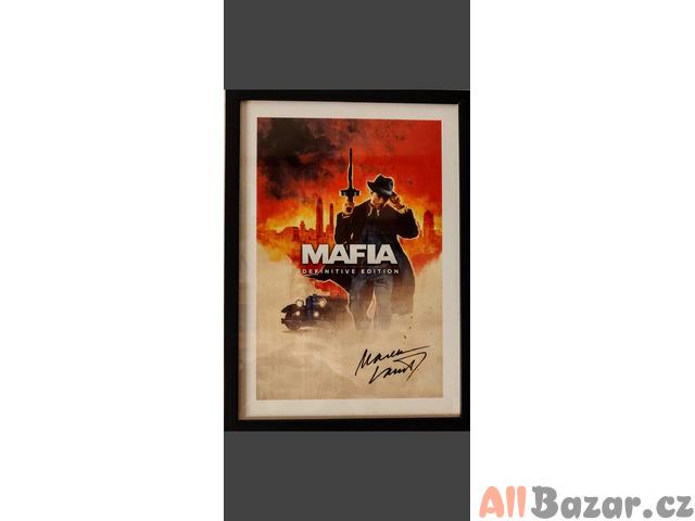 Originální plakát Mafia Definitive edition podepsaný Markem