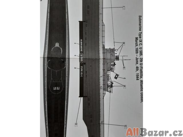 Daruji rozestavěný model ponorky