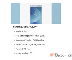 Samsung galaxy J3 2017 dual Sim plně funkční top stav