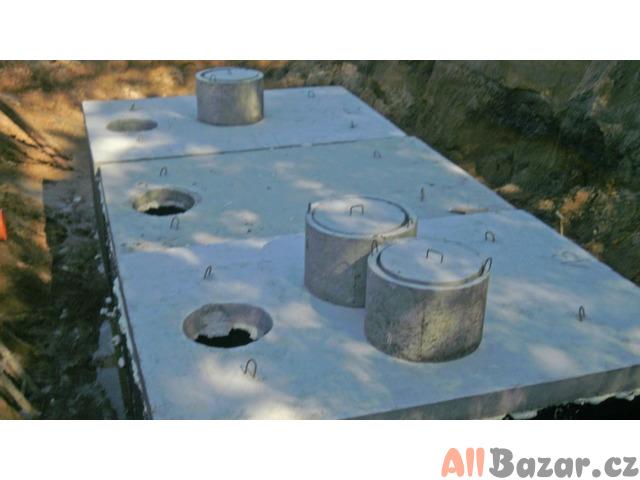 Betonová žumpa, nádrže na vodu, požární nádrže