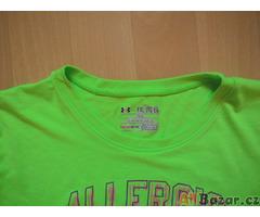 dívčí Under Armour Heatgear zelenožluté sport. tričko, kr.ruk, 158-164/13r.