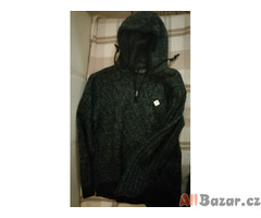 Pánský svetr RAINBOW s kapucí a umělým kožíškem