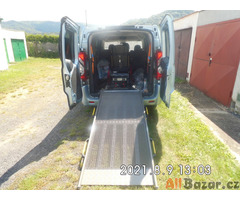 Fiat Scudo 2.0,nájezdová rampa + kotvící systém + bezpečn.pásy pro převoz vozíku