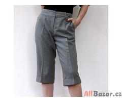 Nové tříčtvrteční teplejší vlněné kalhoty 42-44