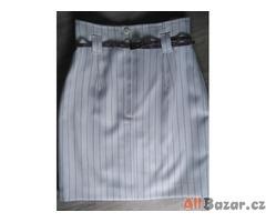 Originální bílo-černá sukně s podšívkou
