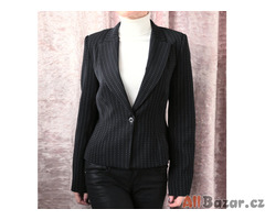 Černé sako s bílým proužkem Dorota vel.38-40